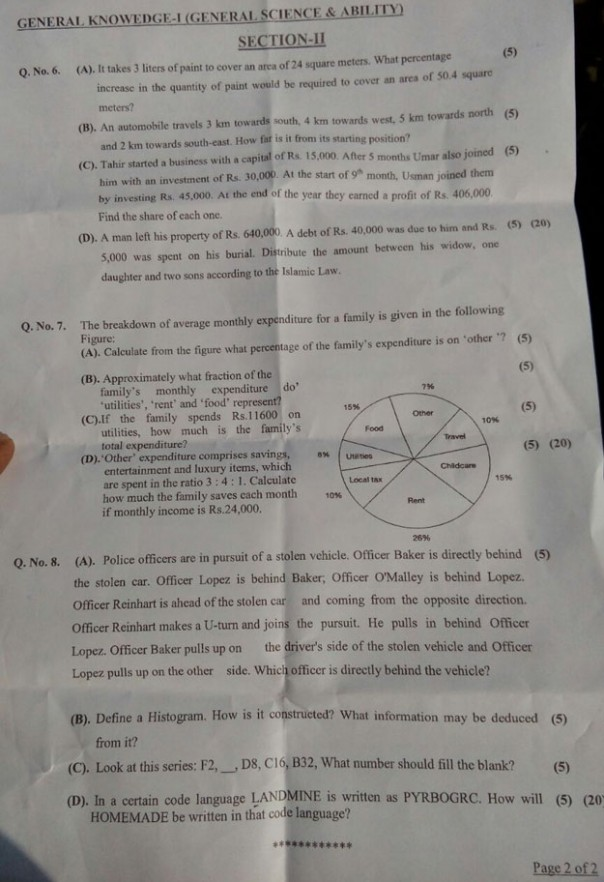 General Sceince and Abiiity Every Day Science Paper 1 page 2