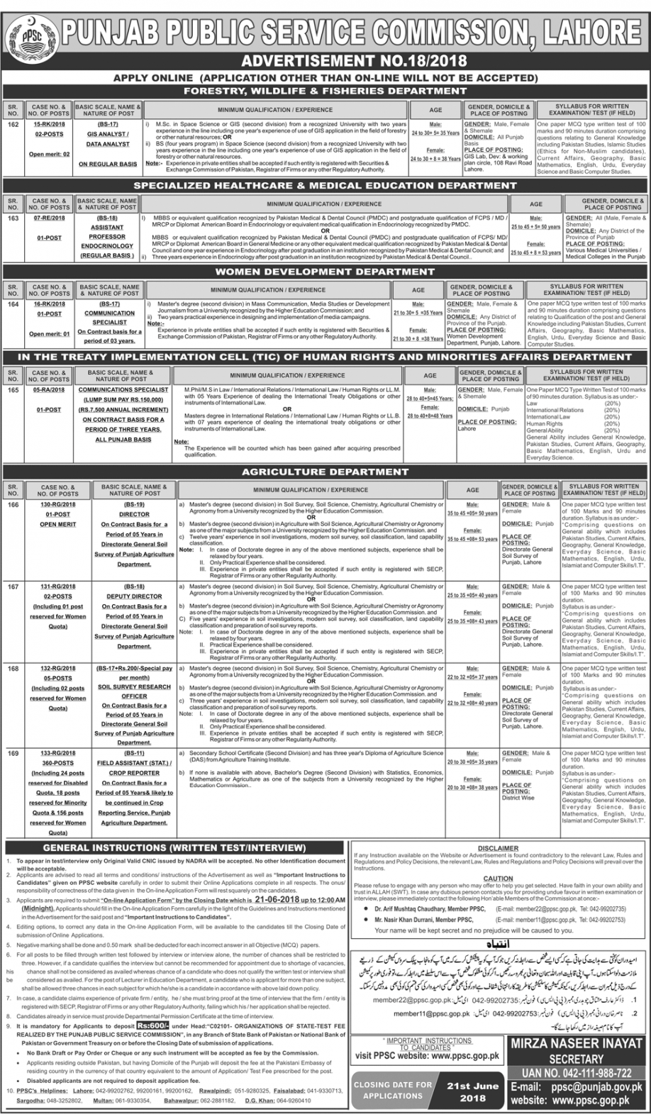 ppsc Advertisement No. 18 Field Assistant Jobs Apply Online