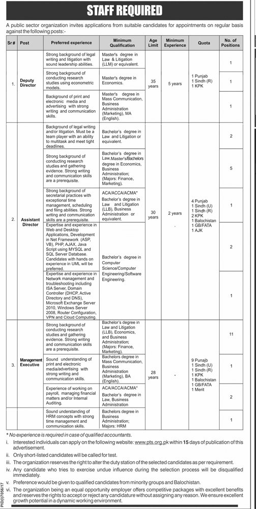 Public Sector Organization Jobs June 2018 Government Jobs