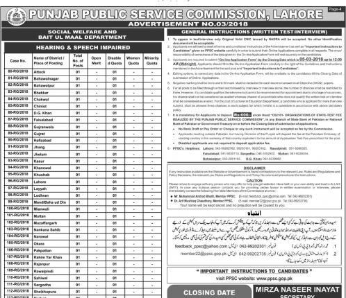 PPSC Advertisement NO. 03 Page 4